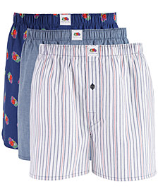 Fruit of the Loom Men's 3-Pk. Limited Edition Woven Cotton Boxers