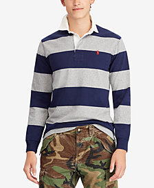 Polo Ralph Lauren Men's Big & Tall Iconic Cotton Striped Rugby Shirt