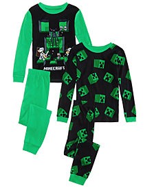 Minecraft Big Boys 4-Pc. Cotton Pajama Set