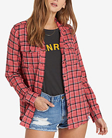 Billabong Juniors' Cotton Plaid Shirt
