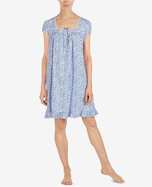 d721524dfa Eileen West Cotton Printed Short Nightgown - Bras