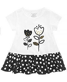 First Impressions Baby Girls Dotty Cotton Peplum Tunic, Created for Macy's