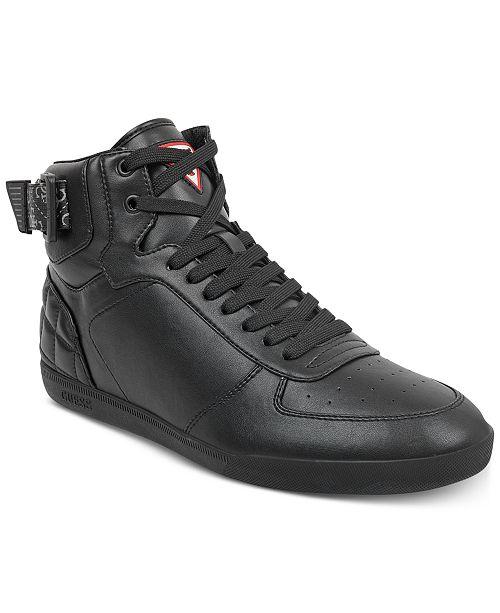 7f0d48332294ad GUESS Men s Fitz High-Top Sneakers   Reviews - All Men s Shoes ...