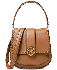 MICHAEL Michael Kors Lillie Stitched Smooth Leather Crossbody