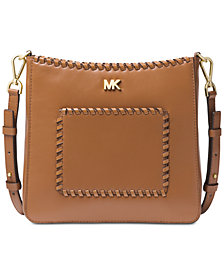 MICHAEL Michael Kors Gloria Pocket Stitched Leather Crossbody