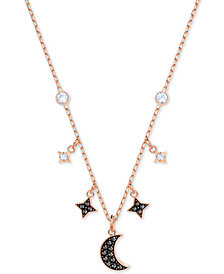 "Swarovski Two-Tone Crystal Moon & Stars 13-1/4"" Pendant Necklace"