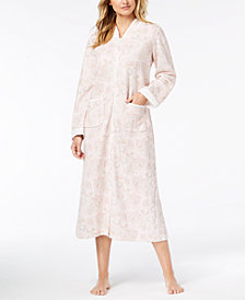 Miss Elaine Paisley-Print Zip Robe