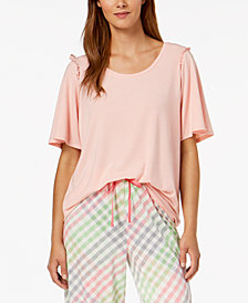 HUE® Bell Ruffled-Sleeve Sleep Top