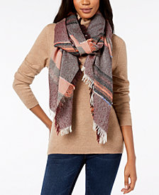 Steve Madden Sparkle Striped Travel Wrap & Scarf, Created for Macy's