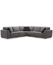 CLOSEOUT! Amboise 5-Pc. Fabric Sectional Sofa, Created for Macy's
