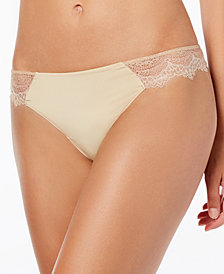 b.tempt'd Wink Worthy Lace-Sides Thong 976221