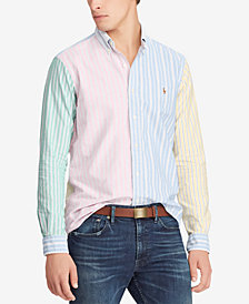 Polo Ralph Lauren Men's Striped Colorblock Cotton Classic Fit Shirt