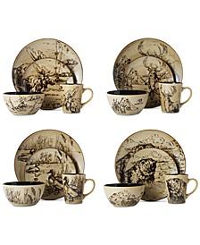 Mossy Oak 16-Piece Dinnerware Set