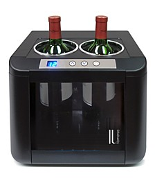 2-Bottle Thermoelectric Open Wine Cooler