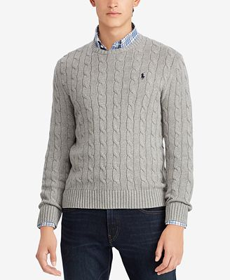 Polo Ralph Lauren Mens Cable Knit Cotton Sweater Sweaters Men
