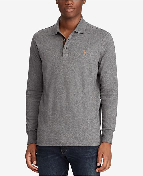 Men's Classic-Fit Long Sleeve Soft-Touch Polo