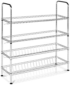 Lidia Chrome Wire Adjustable Shoe Rack