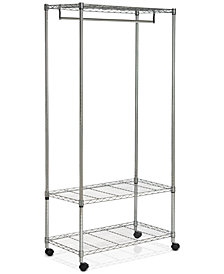 Gordan Chrome Wire 3-Tier Garment Rack, Quick Ship