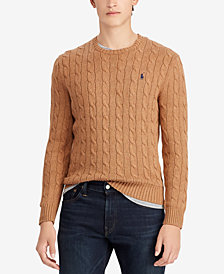Polo Ralph Lauren Men's Big & Tall Cable-Knit Cotton Sweater