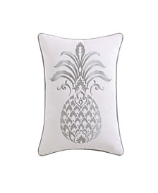 "Oceanfront Resort Tropical Plantation Pineapple 12"" x 18"" Pillow"