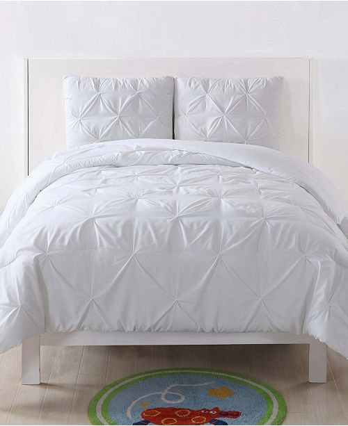My World Pleated Twin XL Duvet Set
