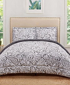 Truly Soft Watercolor Paisley King Comforter Set
