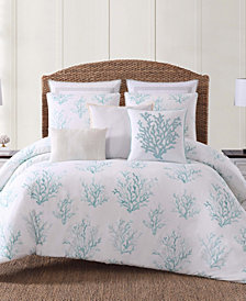 Oceanfront Resort Cove Seafoam Printed 3 Piece King  Comforter Set