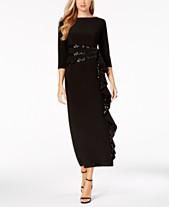 d8826d45d8f R   M Richards Petite Cascading Sequin-Embellished Dress