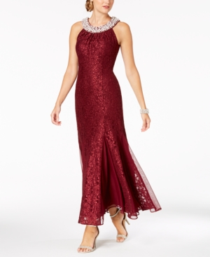 Vintage Evening Dresses and Formal Evening Gowns R  M Richards Embellished Lace Gown $95.99 AT vintagedancer.com