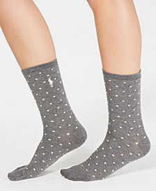 Polo Ralph Lauren Tossed Dot/Square Trouser Socks