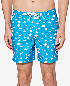 Original Penguin Men's Paper Airplane Printed Quick-Dry Swim Trunks