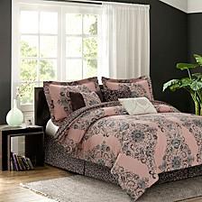 Bardot Blush 7-piece Comforter Set, Queen