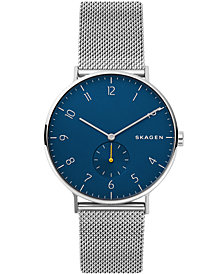 Skagen Men's Aaren Stainless Steel Mesh Bracelet Watch 40mm