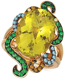 Le Vian® Multi-Gemstone Ring (10-3/8 ct. t.w.) in 14k Rose Gold