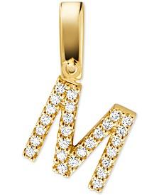 Michael Kors Women's Custom Kors 14K Gold-Plated Sterling Silver Letter Charm