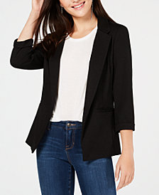 BCX Juniors' 3/4-Sleeve Blazer
