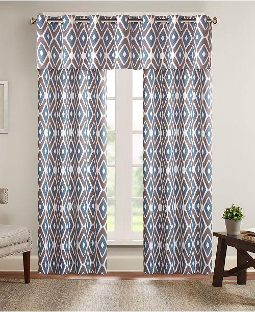 """Madison Park Ashlin Diamond 50"""" x 84"""" Grommet Window Curtain"""