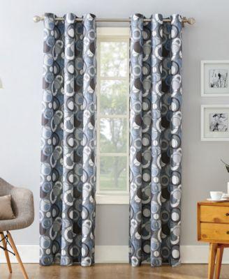 "Regis Woven Curtain 48"" x 95"" Panel"