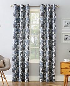 "Regis 48"" x 63"" Geometric Print Curtain Panel"