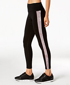Calvin Klein Performance Velour-Inset High-Waist Leggings