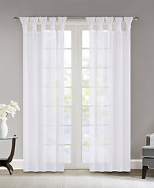 """Madison Park Ceres 50"""" x 63"""" Twisted Tab Top Voile Sheer Window Pair"""