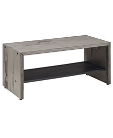 "42"" Solid Rustic Reclaimed Wood Entry Bench - Grey"