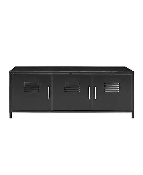 Metal Locker Style Storage Bench