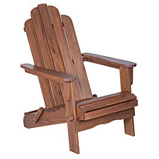 Acacia Adirondack Chair - Dark Brown