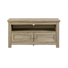 "44"" Wood TV Media Stand Storage Console - Driftwood"