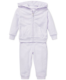 Ralph Lauren Baby Girls French Terry Hoodie & Pants Set