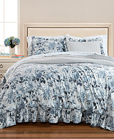 Martha Stewart Collection Floral Rouching 8-Pc. King Comforter Set, Created for Macy's