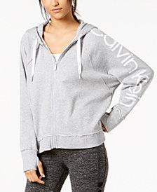 Calvin Klein Performance Logo Relaxed Zip Hoodie
