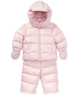 a69e685ea Polo Ralph Lauren Baby Girls Quilted Snowsuit   Reviews - Coats ...