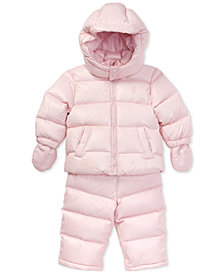 Polo Ralph Lauren Baby Girls Quilted Snowsuit